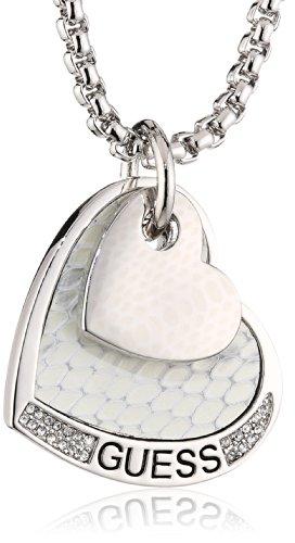 Guess Damen Halskette Metall 45.0 cm weiß UBN11431 thumbnail