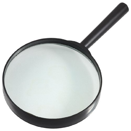 toogoor-plastic-black-round-handle-100mm-dia-loupe-5x-magnifier