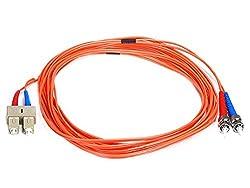 Fiber Optic Cable_ ST/SC_ OM1_ Multi Mode_ Duplex - 5 meter (62.5/125 Type) - Orange