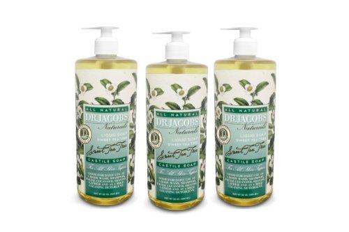 Dr. Jacobs Naturals Sweet Tea Tree Castile Soap 32Oz 3 Pack
