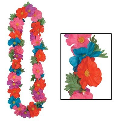 Silk 'N Petals Tropical Lei (multi-color) Party Accessory  (1 count)