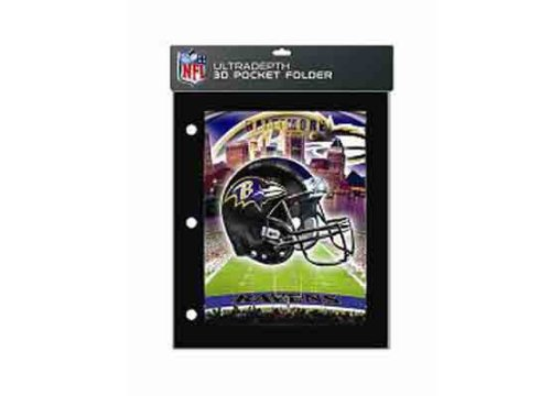 Baltimore Ravens 3-D 2 Pocket Portfolio - Case Pack 12 SKU-PAS755138 at Amazon.com