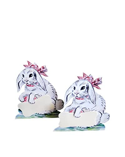 Wendy Addison Set of 2 Bunny Place Card Holders