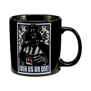 Vandor 99161 Star Wars Darth Vader 20 oz Ceramic Mug, Black
