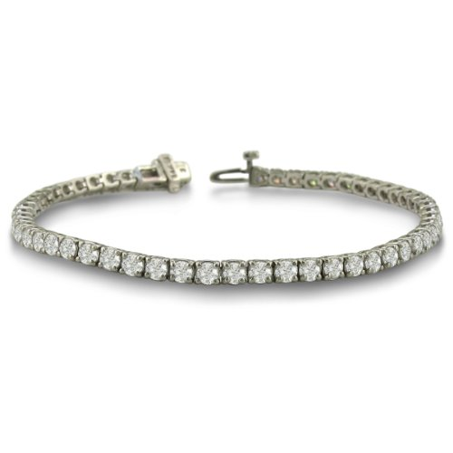 5 Carat Diamond Round Setting Tennis Bracelet