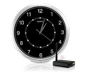 SecurityMan ClockCam Wi-Fi Interference Free Wireless Wall-Clock Hidden Camera Kit (Black)