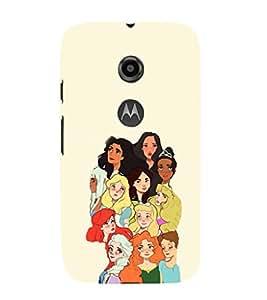 EPICCASE Gang of Toons Mobile Back Case Cover For Moto E 2nd Generation (Designer Case)