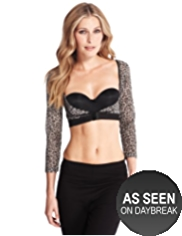 Flatter Me™ Light Control Cupless Animal Print Armwear Crop Top