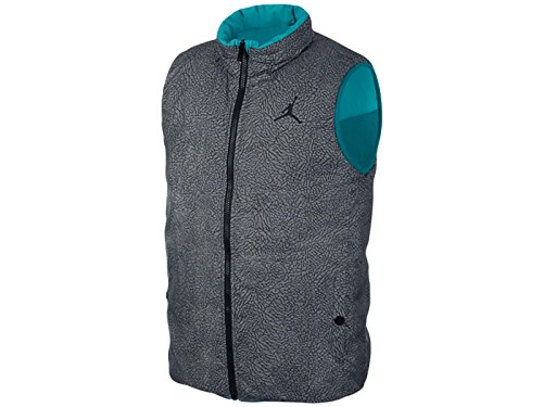 Mens Nike Jordan Ele Padded Vest Tropical Teal/Cool Grey/Black 623483-309 Size L