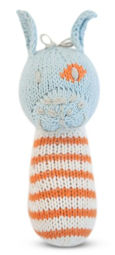 Finn + Emma Organic Cotton Baby Boy Mini Rattle - Dog - 1