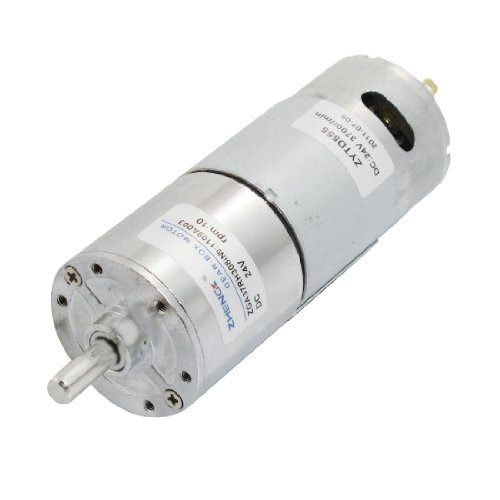 Dc 24V 10Rpm Output Speed 2 Pin 6Mm Shaft Electric Power Geared Motor
