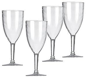 Vango Acrylic Wine Glasses x 4 Stylish Acrylic Glasses - Clear