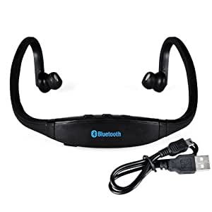 Globalebuy High-Definition Wireless Bluetooth Headphones Sports Headset for iPhone 4 4S 5S Samsung HTC Smartphone