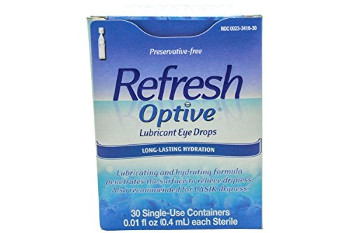 Refresh Optive Lubricant Eye Drops -- 30 Vials (Refresh Optive Preservative Free compare prices)