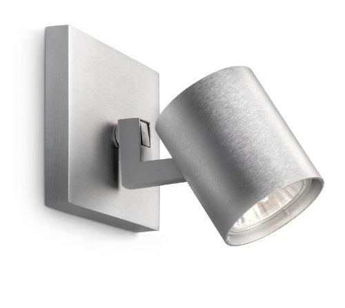 philips-runner-spot-singolo-in-metallo-grigio-lampadina-inclusa