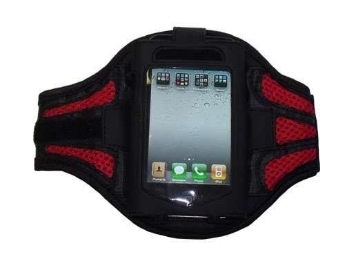 Modern-Tech Red / Black Training Sports Armband for HTC Wildfire, Desire, Inspire 4G, Incredible, Desire S, ChaCha