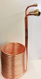 Quick Chill 1/2 Inch Copper Immersion Chiller with Recirculation Arm 50 Feet