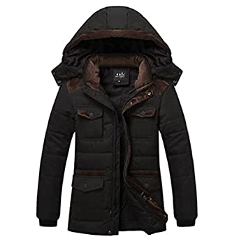 Men's Warm Hooded Coat Parka Winter Coat Outwear Cotton