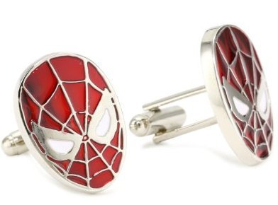 Cheap Marvel Comics Spider-man Red Men's Cuff Links (cufflinks)