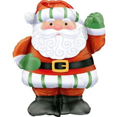 "Christmas Large Santa Shape 28"" Mylar Balloon - 1"
