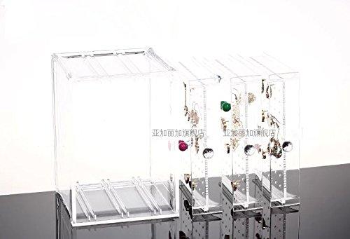 Hqdeal new acrylic earring display stand organiser holder - Boite rangement boucles d oreilles ...