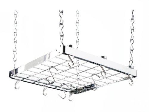 Hahn Ceiling Rack Square Chrome