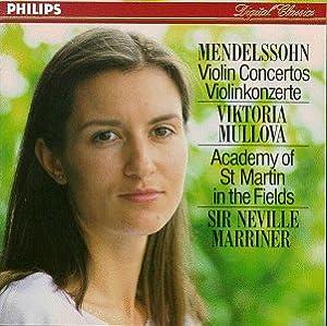 Mendelssohn: Violin Concerto in D minor / Violin Concerto in E minor,Op.64 ~ Mullova / Marriner