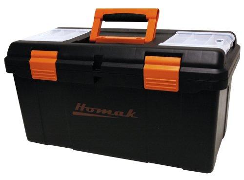 HOMAK BK00122006 22-Inch Black Plastic Tool Box