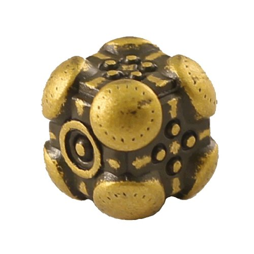 1 (One) Single IronDie: Solid Metal Italian Dice - Yellow Powerup (Die-Cast Designer Six-Sided Die / d6)