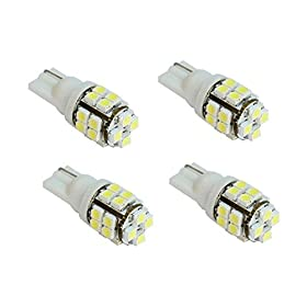 HAMIST 20-smd T10 12v Light LED Replacement Bulbs 168 194 2825 W5w - White (pack of 4)