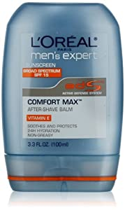 L'Oreal Paris Men's Expert Comfort Max SPF 15 Anti-Irritation After Shave Balm, 3.3 Fluid Ounce