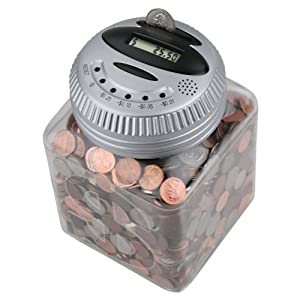 Talking digital coin bank coin sorters and counters office products - Sorting coin bank ...