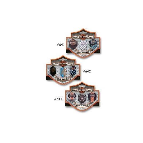 Three Pack Harley Davidson Bar & Shield Wings #642