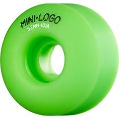 Buy Mini Logo C-Cut 52mm 101a Green Skateboard Wheels (Set Of 4) by Mini-Logo