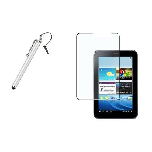Matt LCD Schutz case+silber Stift Für Samsung Galaxy Tab 2 7.0/P3100/P3110