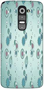 Snoogg Blue Circles And Bubbles 2594 Designer Protective Back Case Cover For LG G2