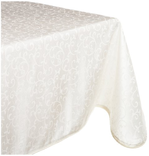 This deals lenox opal innocence 60 by 120 inch oblong for 120 inch table cloth