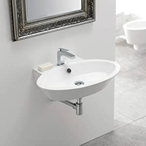Thin Sink : Wish Thin Edge Wall Mount Bathroom Sink - - Amazon.com