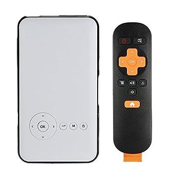 Andoer Android 4.4.2 Projecteur DLP LED Smart TV Box + XBMC 1G / 8GB 2 en 1 Multifonctionnel Machine Miracast DLNA 2.4G / 5G WiFi Dual Band Bluetooth 4.0 HDMI Sortie pour PC Portable Smart Phones