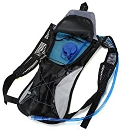 Worth and Nice Hydration Pack Water Rucksack Backpack Bladder Bag Cycling Bicycle Bike/Hiking Climbing Pouch & 2L Hydration Bladder (Black 1)