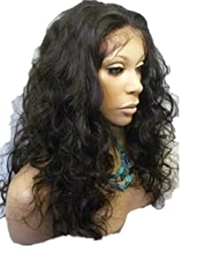 """Tanya Full lace wig short Wig 14"""" Malaysia Curly wig 100% Indian Remy Human Hair wigs #1 jet black"""