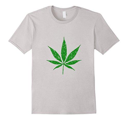 Marijuana-Leaf-T-Shirt-Vintage-Look