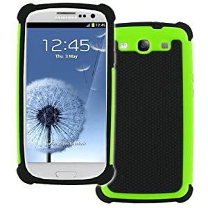 EMPIRE Samsung Galaxy S III / S3 Armor Series Case Cover - Neon Green