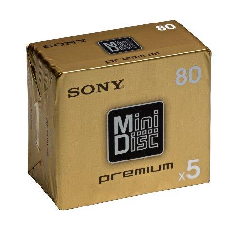 SONY MDW 80CRX Color Mix pack MiniDisc - 5 x 80min (5MDW80CRX)