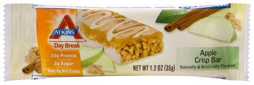 Atkins Day Break Bars, Apple Crisp, 1.2-Ounce Bars (Pack of 15)