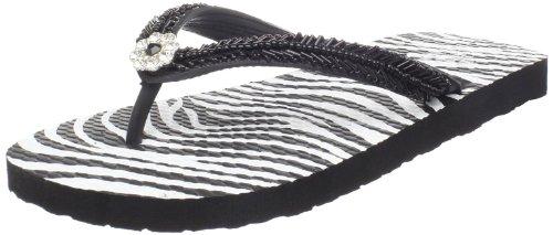 Nomad Women'S Twinkle Flip Flop,Black/White Zebra,8 M Us front-860069