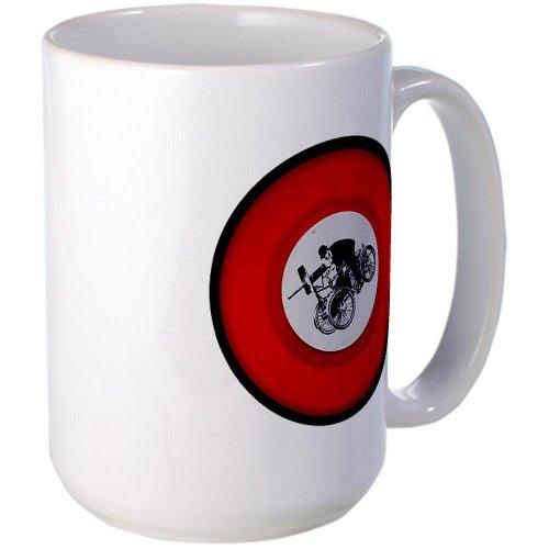Cafepress Pedalling Machine Gunner Left-Handed Cup Large Mug - Standard