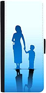Snoogg abstract happy mothers day with silhouetteDesigner Protective Flip Case Cover For Apple Iphone 6s