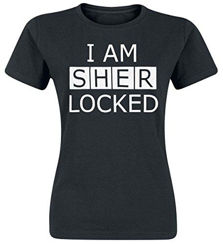 Sherlock I Am Sherlocked Maglia donna nero L