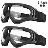 COOLOO Ski Goggles, Snowboard Goggles for Men Women & Youth, Kids, Boys & Girls, Snow Goggle Winter Skiing Sport Goggles with Helmet Anti Fog Protection, Anti-Glare Lenses, Wind Resistance, 2 Pack (Color: 10.Transparent/Transparent)